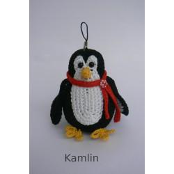 Návod na háčkovaného tučňáka - přívěsek