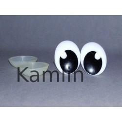 Bezpečnostní očička 20x15 mm