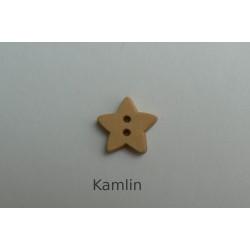 Knoflík - hvězdička - dřevěná 13 mm