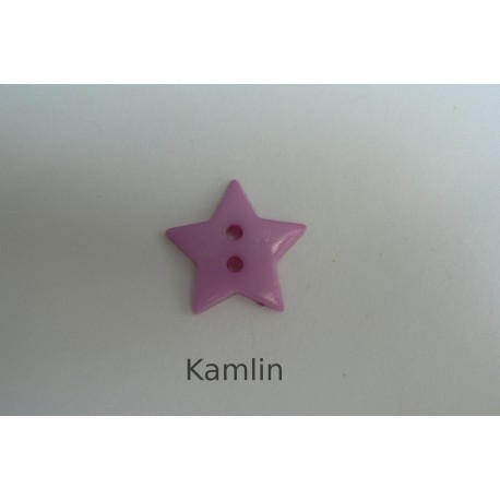 knoflík - hvězdička - sv. fialová 19 mm