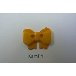 knoflík - mašlička - tmavě žlutá