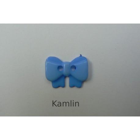 knoflík - mašlička - modrá