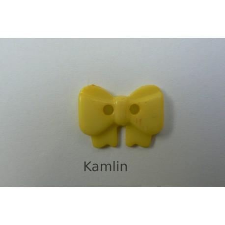 knoflík - mašlička - sv. žlutá