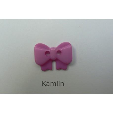 knoflík - mašlička - fialová
