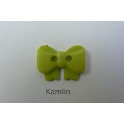 knoflík - mašlička - sv. zelená