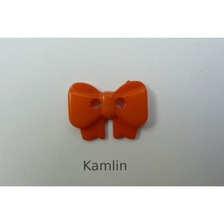 knoflík - mašlička - oranžová