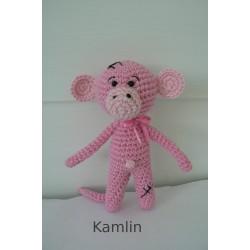 Návod na háčkovanou růžovou mini opičku
