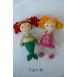 Návod na háčkovanou panenku a mořskou pannu