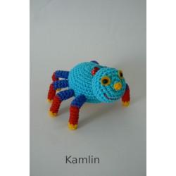 Háčkovaný pavouček - přívěsek