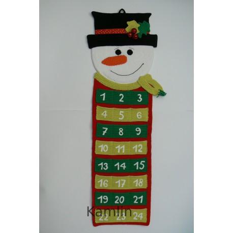 Návod na háčkovaný adventní kalendář sněhulák