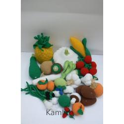 Háčkované ovoce a zelenina - 20 druhů