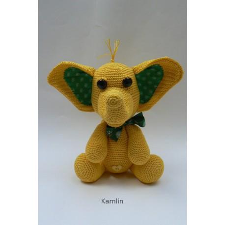 Návod na háčkovaného sloníka - žlutého