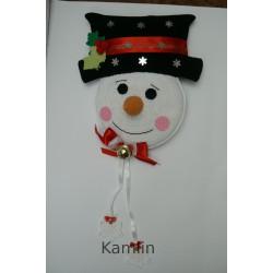 Návod na sněhuláka - dekorace na dveře