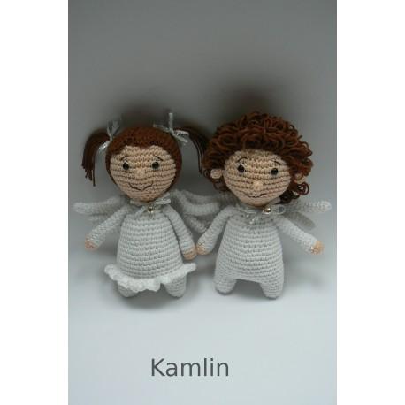 Háčkovaní andílci - kluk a holka