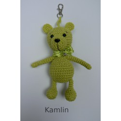 medvídek - přívěsek - sv. zelený