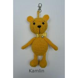 medvídek - přívěsek - žlutý