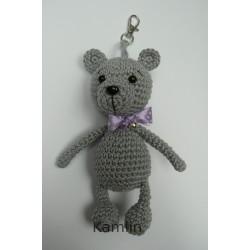 medvídek - přívěsek - šedý