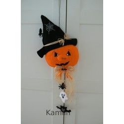 Háčkovaná halloweenská dýně - dekorace