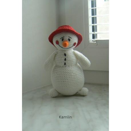 Návod na háčkovaného sněhuláčka