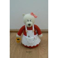 Návod na háčkovanou medvědici - jehelníček