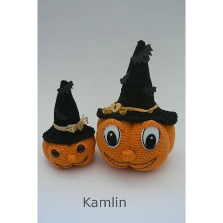 Návod na dvě háčkované halloweenské dýně
