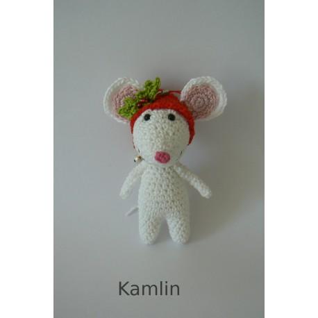 Návod na háčkovanou vánoční myšku - přívěsek